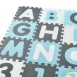 Habszivacs szőnyeg, puzzle 36-os darabos,  A-tól Z-ig és 0-tól 9-ig, Noah