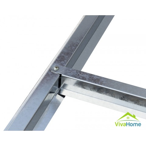Alapszerkezet (növeli a stabilitást, mozgathatóságot) a 340 x 205 x 382 - kb. 24,5 m3 -es kerti fémházhoz   - VivaHome