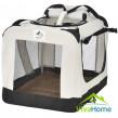 """Összecsukható kutyaszállító box 34 × 50 × 36 cm - """"Lassie M"""" (bézs)"""