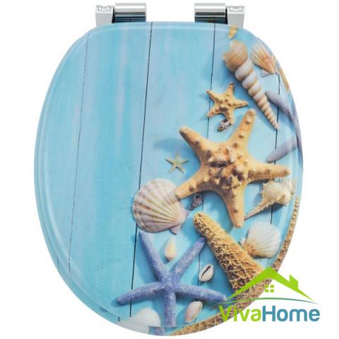 """WC-ülőke """"Óceán"""", MDF-ből, kényelmes, finoman záródó, lecsapódásgátló automatikával"""