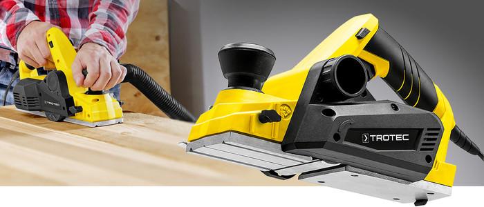 Elektromos gyalu PPLS 10-750, tiszta munkavégzés, jól kezelhetőség