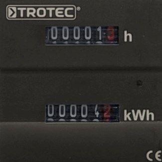 Trotec üzemóra és kWh számláló