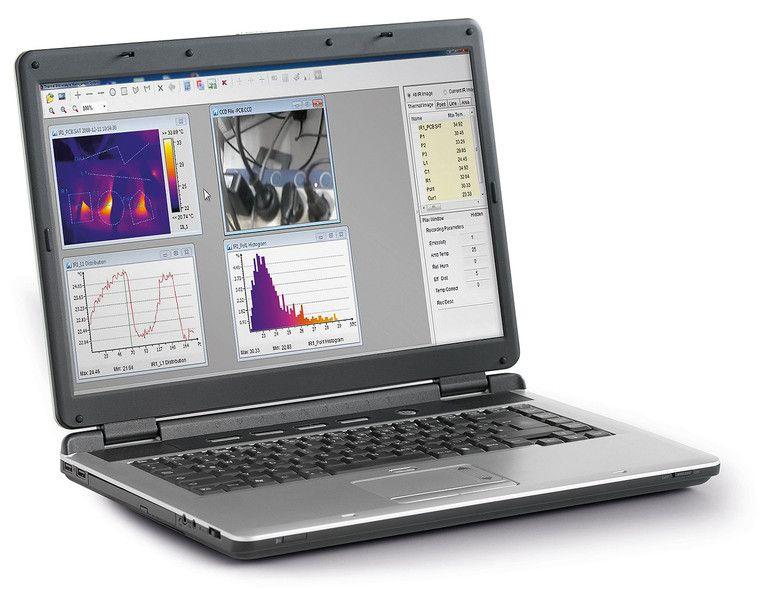 IC085LV hőkamera számítógépes szoftverrel