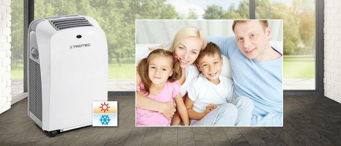Mobil klíma PAC 2000 SH, kompakt, praktikus 4 funkciós légkondicionáló